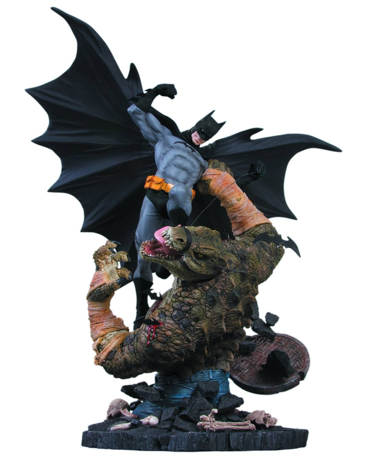BATMAN VS KILLER CROC STATUE 2ND EDITION